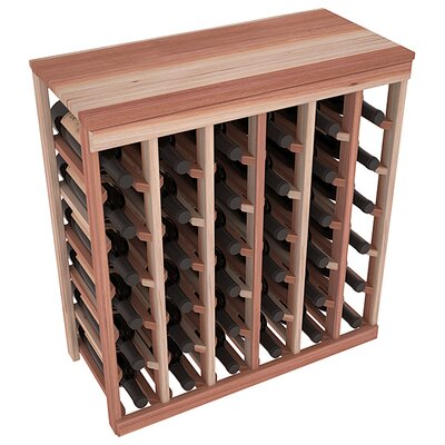 Karnes Redwood Table Top 36 Bottle Floor Wine Rack Finish: Natural