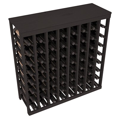 Karnes Pine 64 Bottle Floor Wine Rack Finish: Black