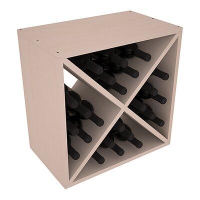 Karnes Pine X-Cube 24 Bottle Tabletop Wine Rack Finish: Gray