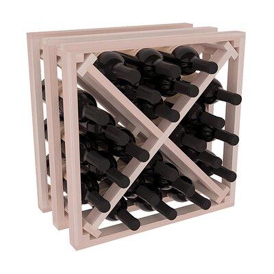 Karnes Redwood Lattice X-Cube 24 Bottle Tabletop Wine Rack Finish: Gray