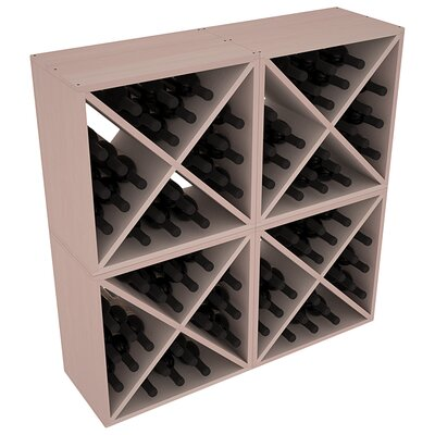 Karnes Redwood X-Cube 96 Bottle Floor Wine Rack Finish: Gray