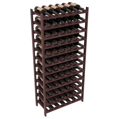 Karnes Redwood Stackable 72 Bottle Floor Wine Rack Finish: Walnut Satin