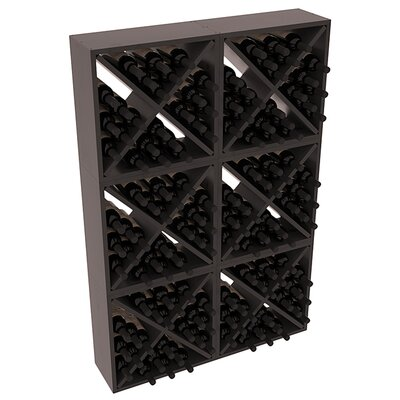 Karnes Pine Rustic Cube 144 Bottle Floor Wine Rack Finish: Black Satin