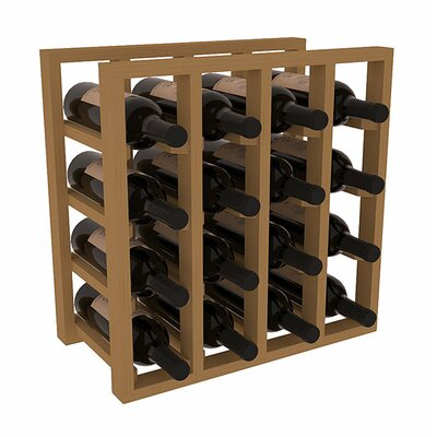 Karnes Pine Lattice 16 Bottle Tabletop Wine Rack Finish: Oak
