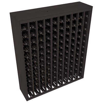 Karnes Pine Deluxe 120 Bottle Floor Wine Rack Finish: Black