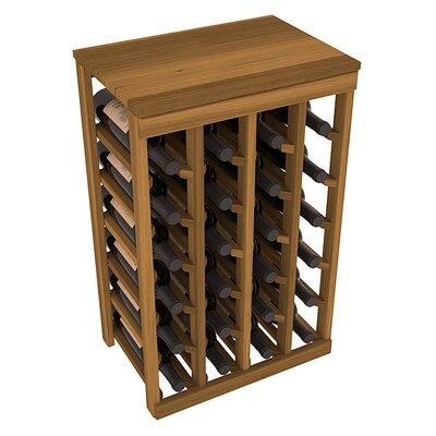 Karnes Redwood Table Top 24 Bottle Floor Wine Rack Finish: Oak