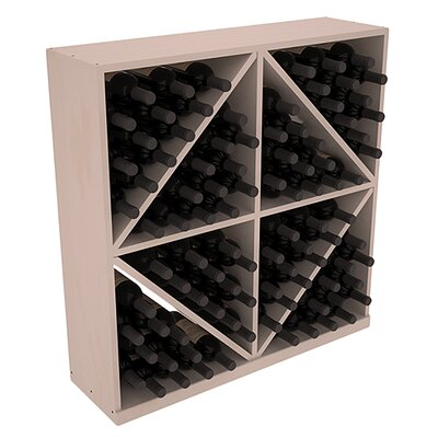 Karnes Pine Diamond Storage 96 Bottle Floor Wine Rack Finish: Gray Satin