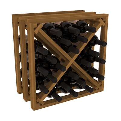 Karnes Redwood Lattice X-Cube 24 Bottle Tabletop Wine Rack Finish: Oak