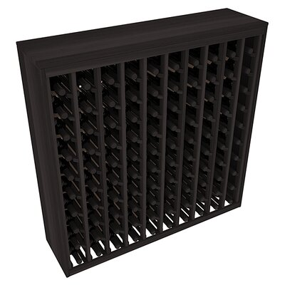 Karnes Redwood Deluxe 100 Bottle Floor Wine Rack Finish: Black