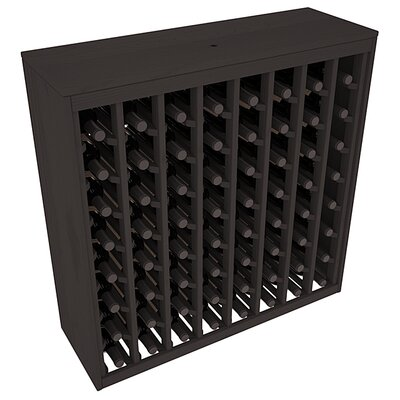 Karnes Pine Deluxe 64 Bottle Floor Wine Rack Finish: Black