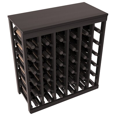 Karnes Redwood Table Top 36 Bottle Floor Wine Rack Finish: Black Satin
