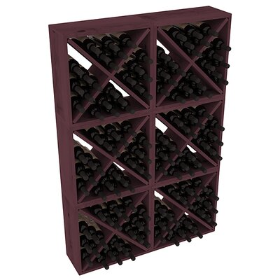 Karnes Pine Rustic Cube 144 Bottle Floor Wine Rack Finish: Burgundy