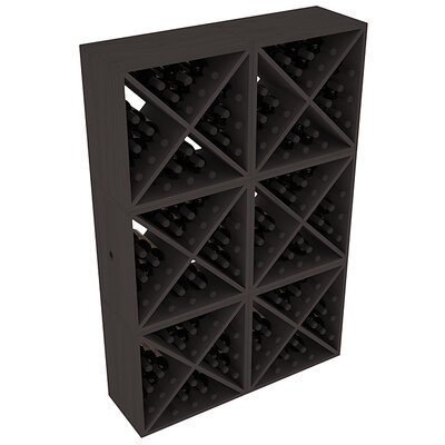 Karnes Pine X-Cube 144 Bottle Floor Wine Rack Finish: Black