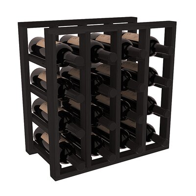 Karnes Redwood Lattice 16 Bottle Tabletop Wine Rack Finish: Black