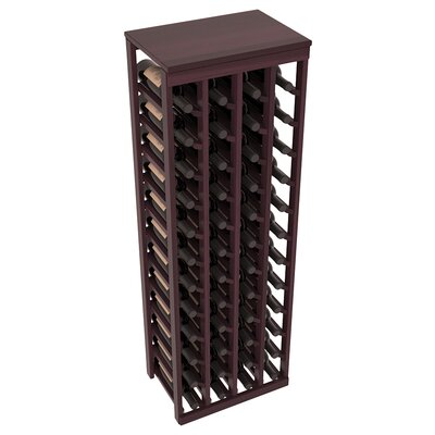 Karnes Redwood Table Top 48 Bottle Floor Wine Rack Finish: Burgundy Satin