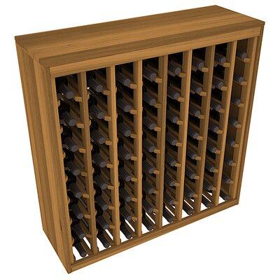 Karnes Redwood Deluxe 64 Bottle Floor Wine Rack Finish: Oak