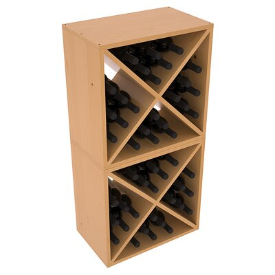 Karnes Pine X-Cube 48 Bottle Floor Wine Rack Finish: Oak Satin