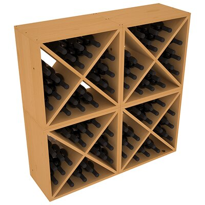 Karnes Pine X-Cube 96 Bottle Floor Wine Rack Finish: Oak