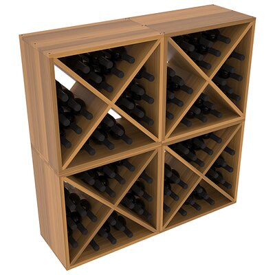 Karnes Redwood X-Cube 96 Bottle Floor Wine Rack Finish: Oak Satin