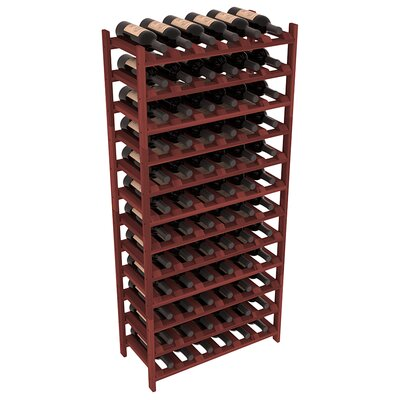 Karnes Redwood Stackable 72 Bottle Floor Wine Rack Finish: Cherry