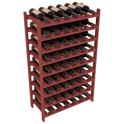Karnes Pine Stackable 54 Bottle Floor Wine Rack Finish: Cherry