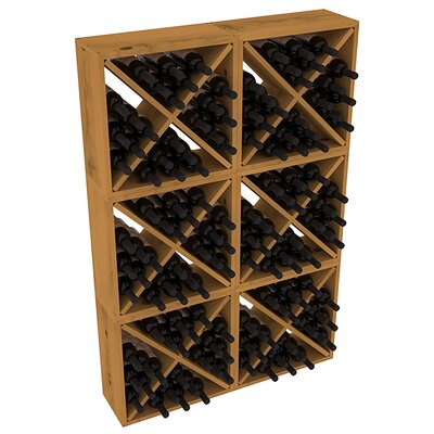 Karnes Pine Rustic Cube 144 Bottle Floor Wine Rack Finish: Oak
