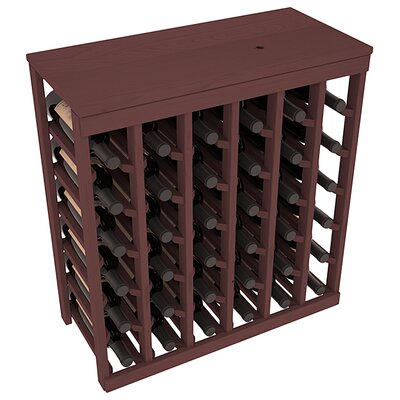 Karnes Pine 36 Bottle Floor Wine Rack Finish: Walnut