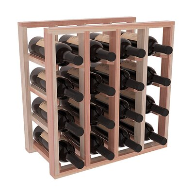 Karnes Redwood Lattice 16 Bottle Tabletop Wine Rack Finish: Natural Satin