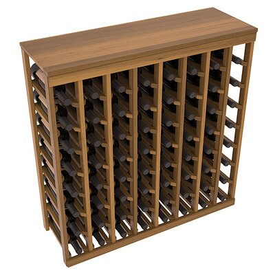 Karnes Redwood Table Top 64 Bottle Floor Wine Rack Finish: Oak Satin