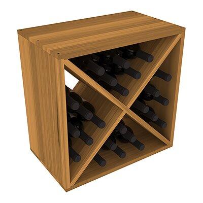 Karnes Redwood X-Cube 24 Bottle Tabletop Wine Rack Finish: Oak