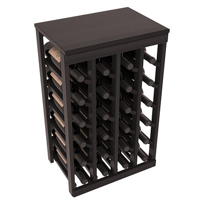 Karnes Redwood Table Top 24 Bottle Floor Wine Rack Finish: Black Satin