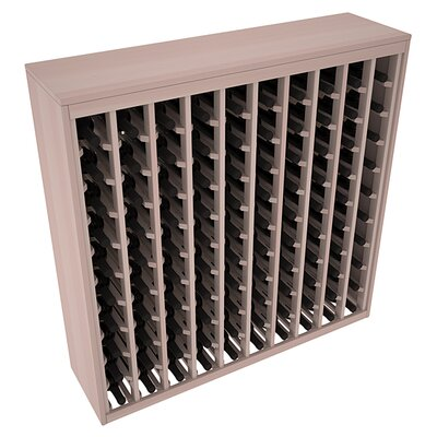 Karnes Redwood Deluxe 100 Bottle Floor Wine Rack Finish: Gray Satin