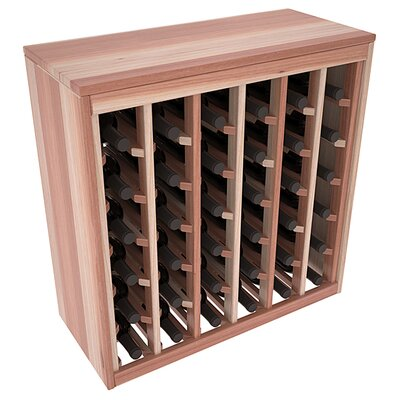 Karnes Redwood Deluxe 36 Bottle Floor Wine Rack Finish: Natural Satin