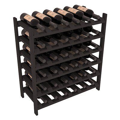Karnes Pine Stackable 36 Bottle Floor Wine Rack Finish: Black