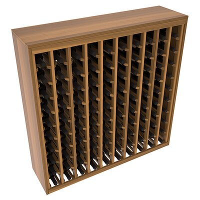 Karnes Redwood Deluxe 100 Bottle Floor Wine Rack Finish: Oak Satin