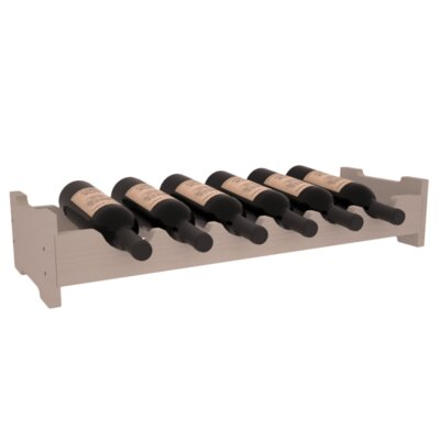 Lundgren Mini Scalloped 6 Bottle Tabletop Wine Rack Finish: Gray