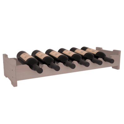 Karnes Redwood Mini Scalloped 6 Bottle Tabletop Wine Rack Finish: Gray