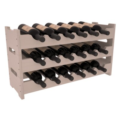 Karnes Pine Mini Scalloped 18 Bottle Tabletop Wine Rack Finish: Gray Satin