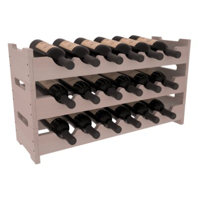 Karnes Redwood Mini Scalloped 18 Bottle Tabletop Wine Rack Finish: Gray Satin