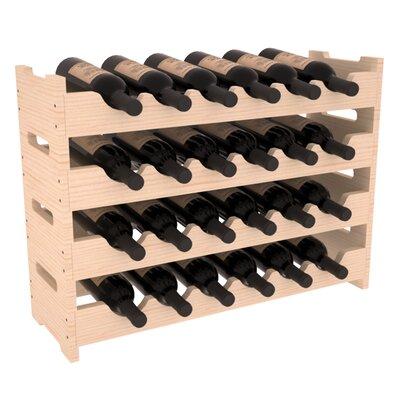 Karnes Pine Mini Scalloped 24 Bottle Tabletop Wine Rack Finish: Natural