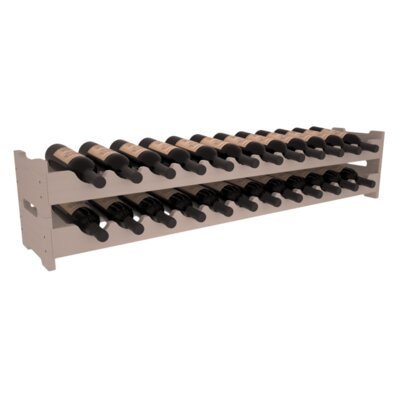 Karnes Pine Scalloped 24 Bottle Tabletop Wine Rack Finish: Gray