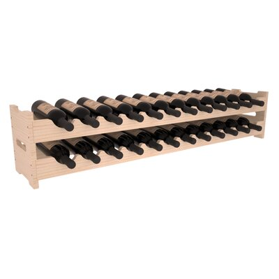 Karnes Pine Scalloped 24 Bottle Tabletop Wine Rack Finish: Natural Satin