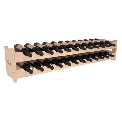 Karnes Pine Scalloped 24 Bottle Tabletop Wine Rack Finish: Natural