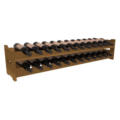 Karnes Redwood Scalloped 24 Bottle Tabletop Wine Rack Finish: Oak