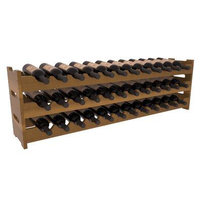 Karnes Redwood Scalloped 36 Bottle Tabletop Wine Rack Finish: Oak Satin