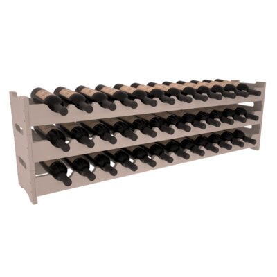 Karnes Pine Scalloped 36 Bottle Tabletop Wine Rack Finish: Gray Satin
