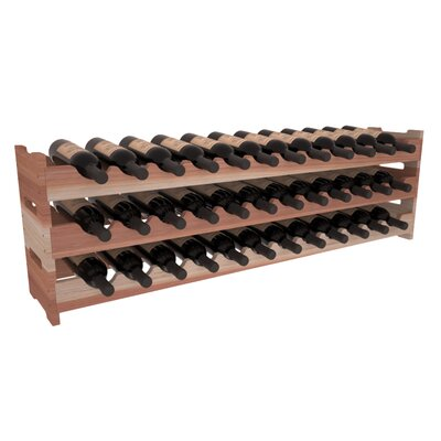 Karnes Redwood Scalloped 36 Bottle Tabletop Wine Rack Finish: Natural
