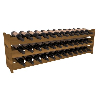 Karnes Redwood Scalloped 36 Bottle Tabletop Wine Rack Finish: Oak