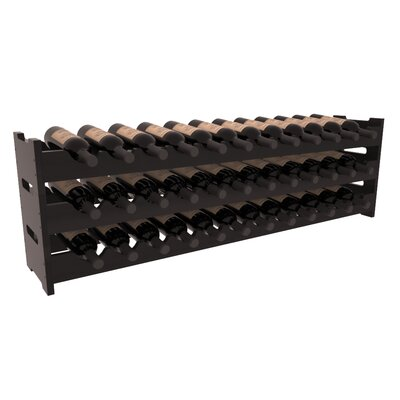 Karnes Redwood Scalloped 36 Bottle Tabletop Wine Rack Finish: Black Satin