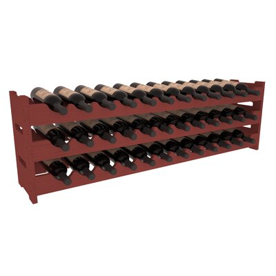 Karnes Pine Scalloped 36 Bottle Tabletop Wine Rack Finish: Cherry